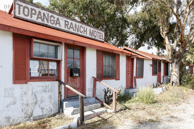 Los Angeles, California, USA - April 27, 2017: Abandoned motel in Los Angeles, California USA