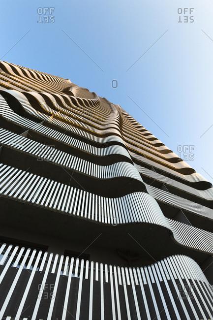 Austria, Vienna - April 1, 2017: Facade of Citygate Tower