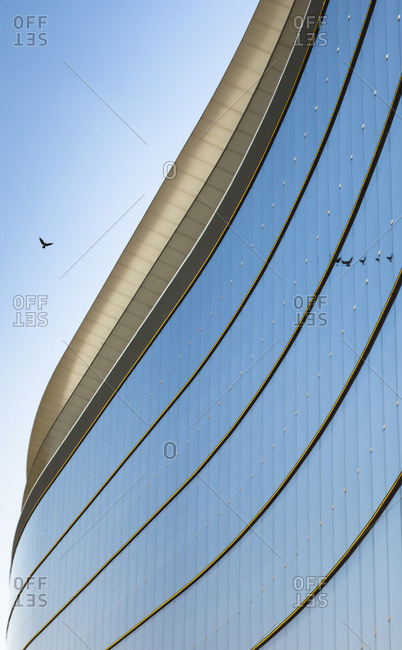 Austria- Vienna- part of glass facade of bank building