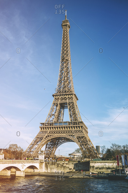 France, Paris - March 5, 2017 : View to Eiffel Tower