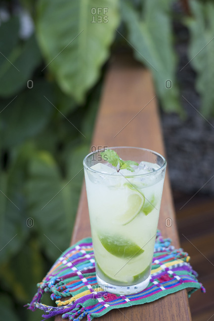 Ice cold lime drink