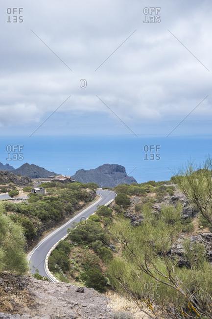 Road through mountains in Tenerife, Spain