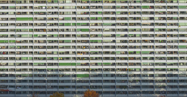 Full frame shot of residential building, Stuttgart, Baden-Wuerttemberg, Germany