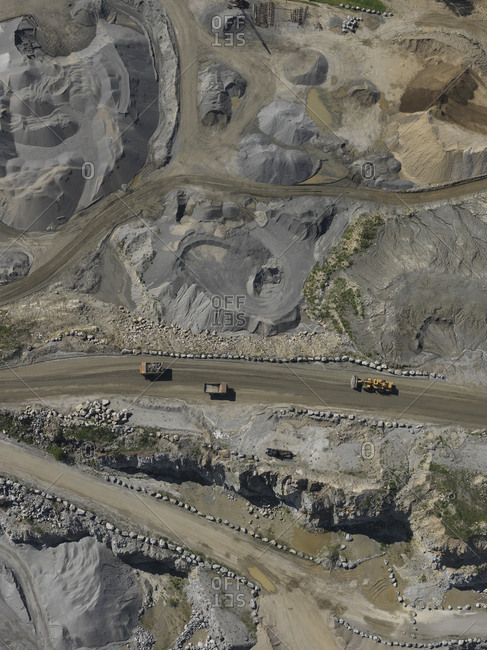Full frame shot of open-pit mine