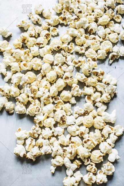 Popcorn kernels on the light background