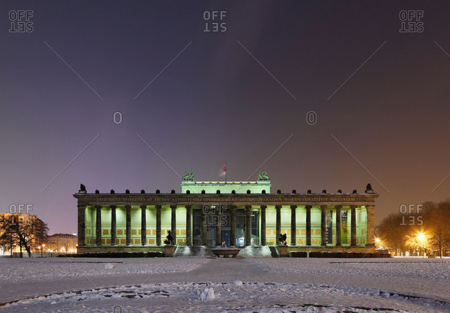 Berlin, Germany - April 21, 2017: Old Museum at night