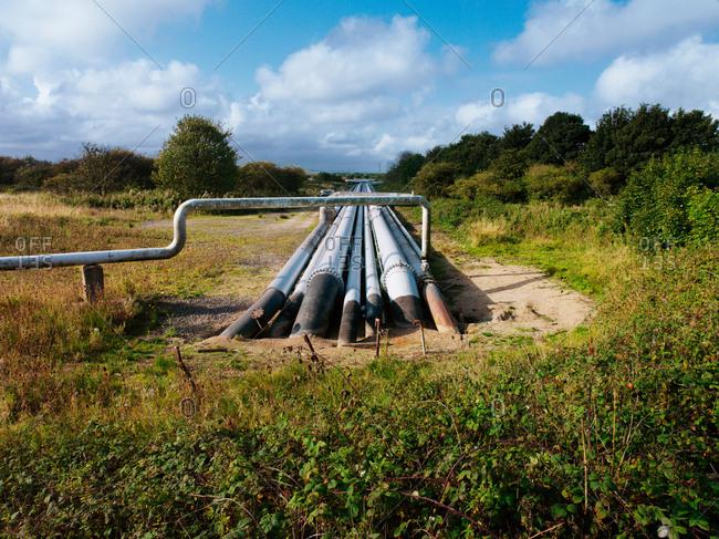 Pipeline system running underground