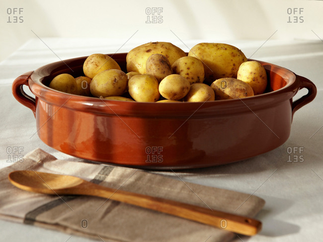 Potatoes in baking dish