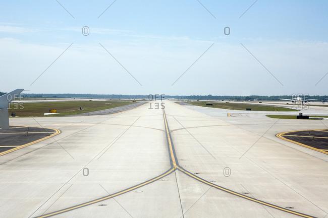 Empty airport runway