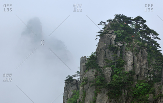 View from Beginning to Believe Lookout, Huangshan Mountains, Anhui Province, China