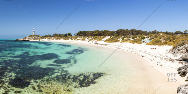 Rottnest Island, Fremantle, Perth, Western Australia, Australia. The Basin is the most popular swimming location of the island.
