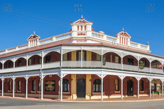 York, Australia - November 23, 2016: York, Shire of York, Wheatbelt state, Western Australia, Australia. The heritage buildings of the Gold Rush.