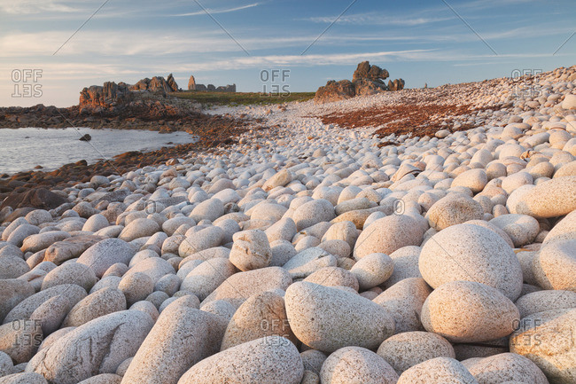 Ouessant island, Brittany, France. A beach near Pointe de Pern, the most westerly point of the Ouessant island