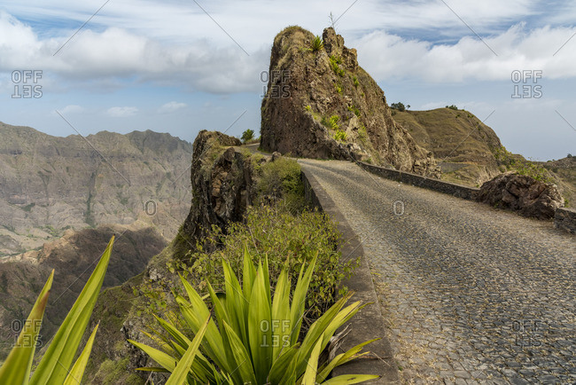 Africa, Cape Verde, Santo Antao. The old panoramic road.