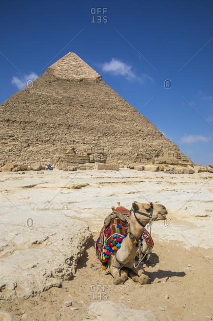 Pyramid of Khafre (Chephren), Pyramids of Giza, Giza, Cairo, Egypt