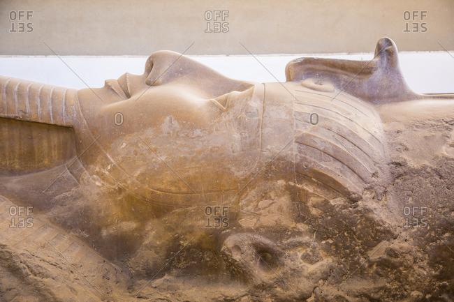 Statue of Ramses II, Memphis (capital of Ancient Egypt), Nr. Cairo, Egypt