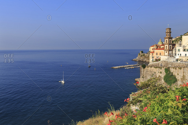 Italy, Campania, Amalfi Coast, Salerno district. Peninsula of Sorrento. Atrani.