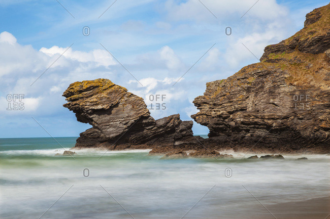 Llangrannog Beach, Ceredigion (Cardigan), West Wales, Wales, United Kingdom, Europe
