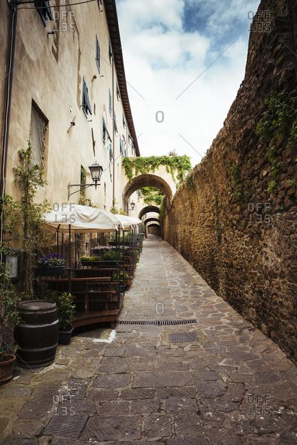 Street view on a hill of Castiglione della Pescaia