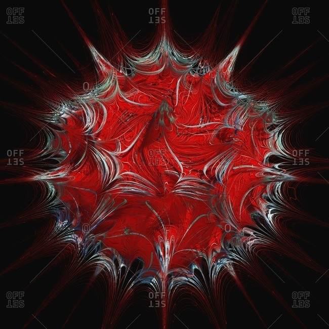3D fractal. Computer-generated image of a three-dimensional fractal.
