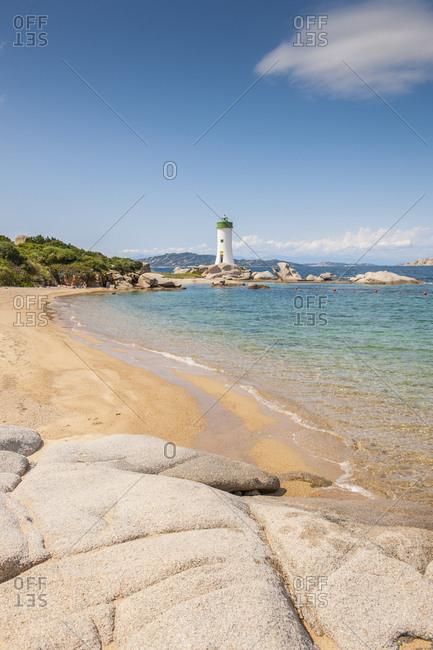Palau, Sardinia, Italy - 3/4/17 : The lighthouse of Punta Palau