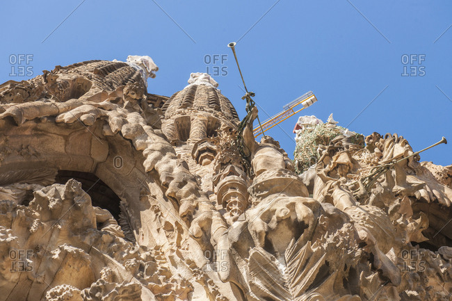 Barcelona, Spain - 4/20/12: Sagrada Familia