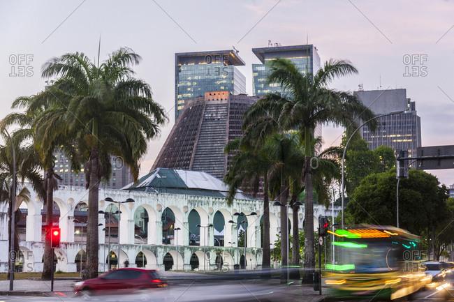 Rio de Janeiro, Brazil - 12/3/12: Cardeal Camera square, Lapa district