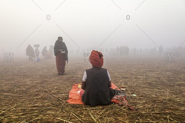 Uttar Pradesh, India - 1/28/13: Maha Kumbh Mela