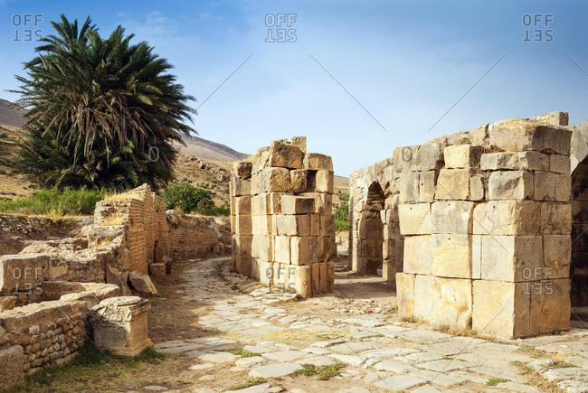 The Theater, Roman ruins of Bulla Regia, Tunisia, North Africa