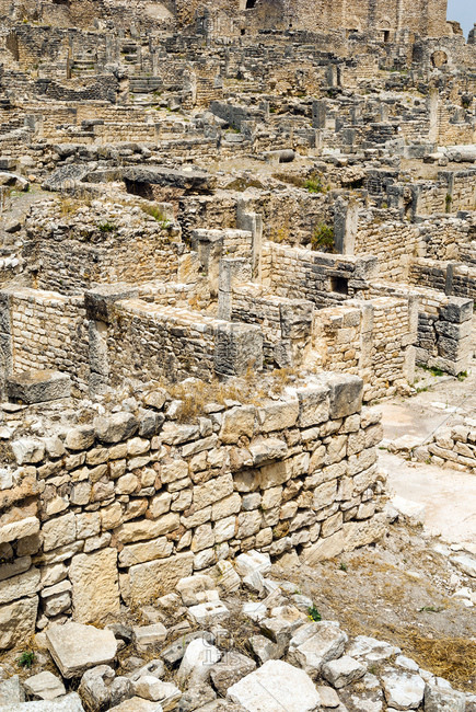 The remains of Dougga Archaeological Site, UNESCO World Heritage Site, Tunisia, North Africa remains, Dougga Archaeological Site, UNESCO World Heritage Site, Tunisia, North Africa