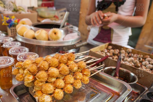 Muslim Quarter market, Xian, China.