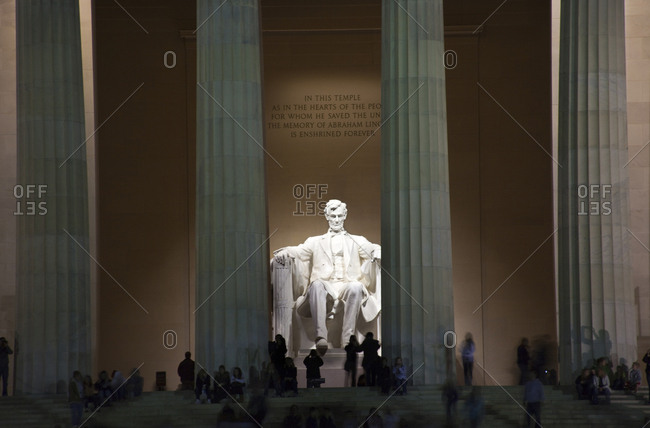 Washington DC - March 5, 2008: Lincoln Memorial, White Statue, Washington DC.