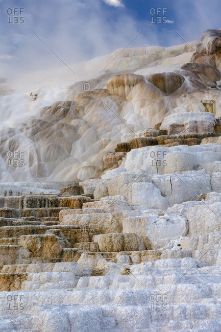 Mammoth Hot Springs, Main Terrace, Yellowstone National Park, Wyoming, USA