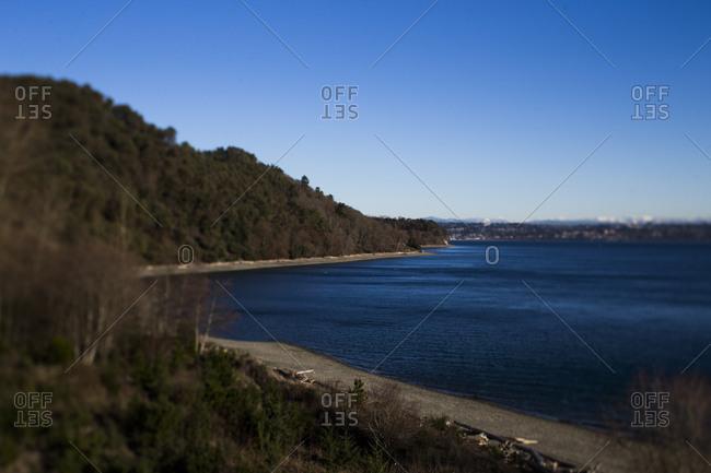Shoreline along Vashon Island, Washington State
