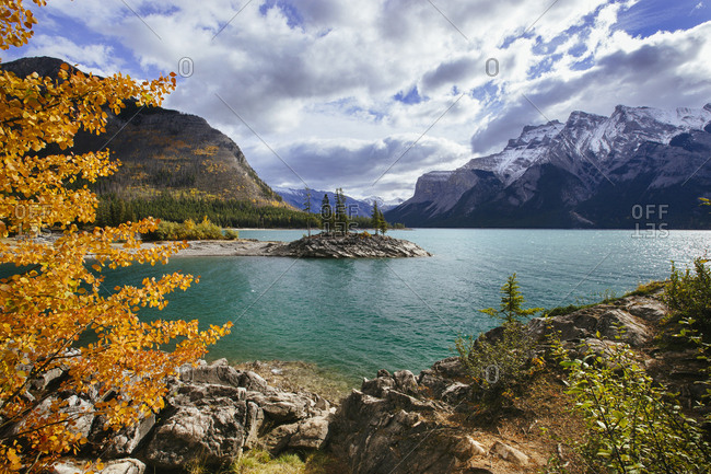 Fall at Lake Minnewanka in Banff National Park