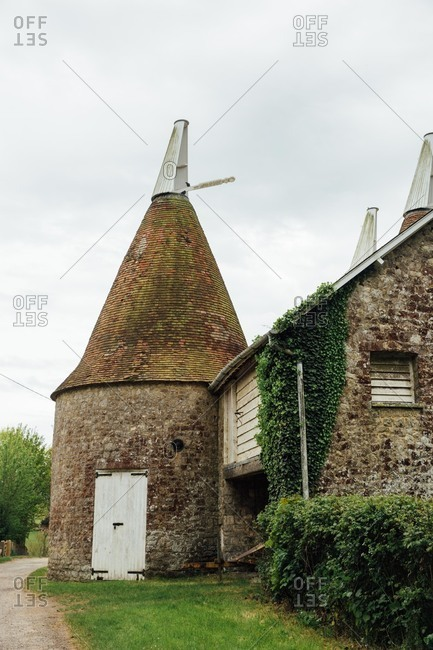 Oast house in Kent, England