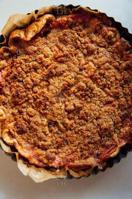 Freshly baked pie