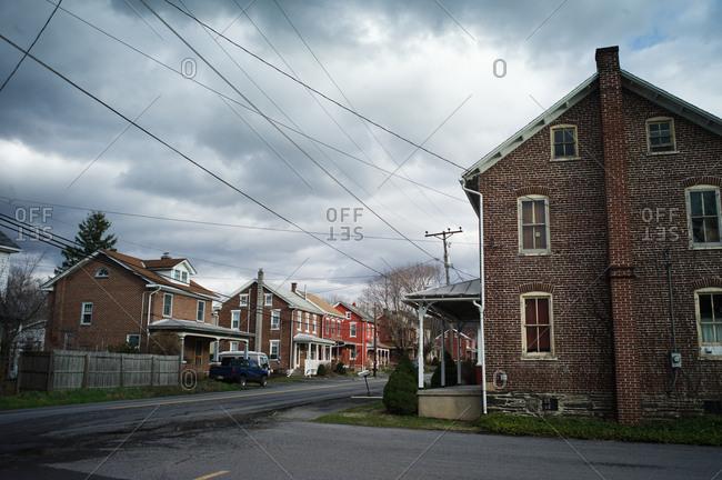 Ohio, USA - April 6, 2011: Small town in Ohio