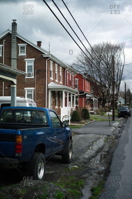 Ohio, USA - April 6, 2011: Small village in Ohio