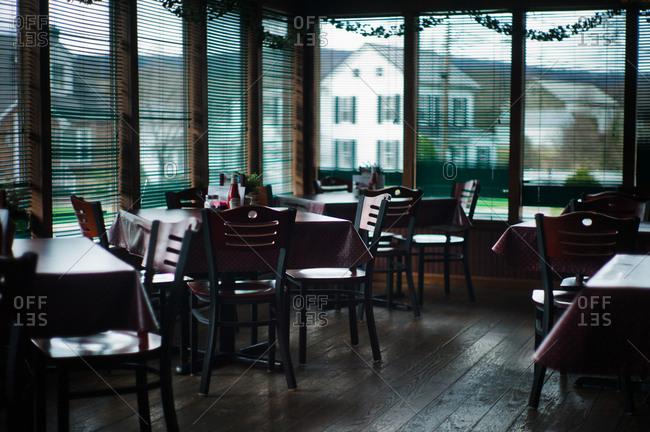 Ohio, USA - April 5, 2011: Restaurant interior