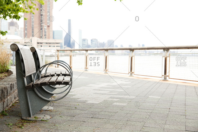 Bench overlooking the East River and NYC