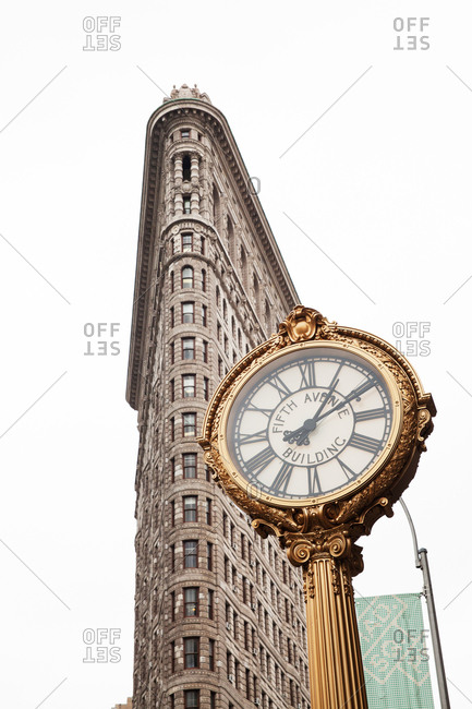 Low angle view of the Flatiron building in New York