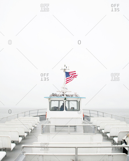 Ferry boat near Fire Island, New York