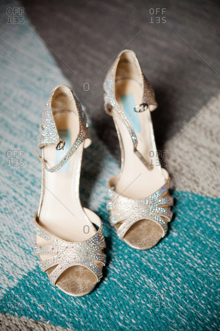 Sparkly bridal shoes