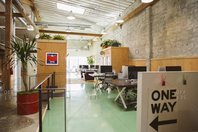 Interior of creative modern office