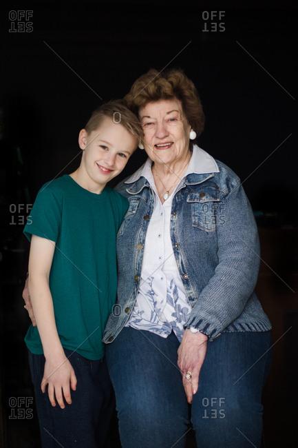 Portrait of grandma and grandson