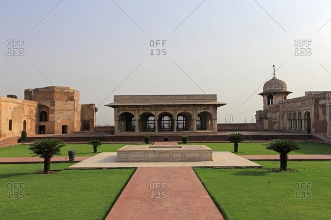 Buildings at historic Lahore Fort, Pakistan