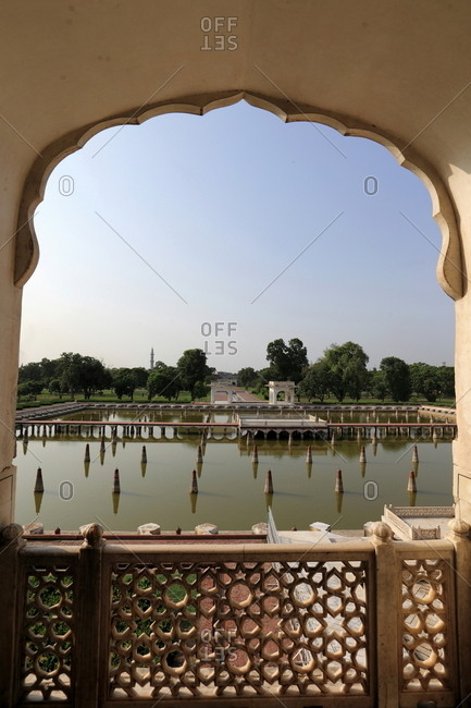 View over Shalimar Gardens, Lahore, Pakistan