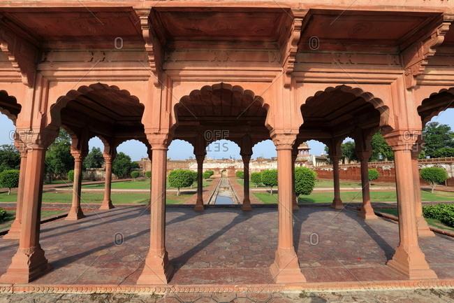View inside Shalimar Gardens, Lahore, Pakistan