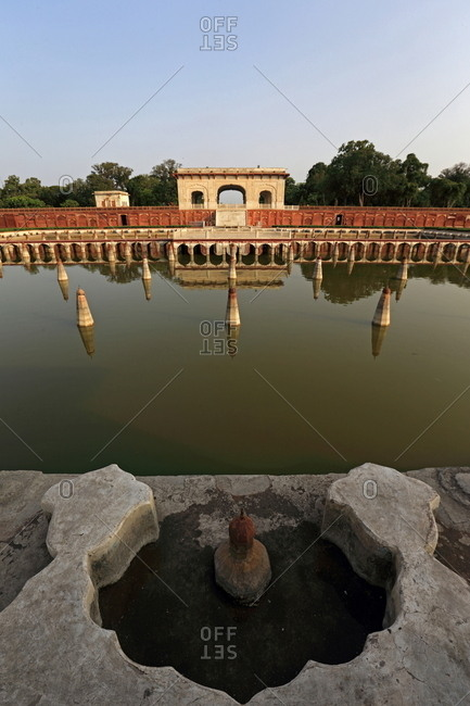Fountain in Shalimar Gardens, Lahore, Pakistan